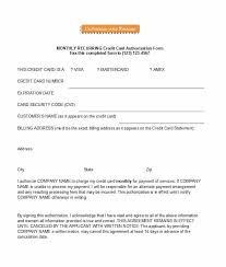 free credit card authorization form template 36