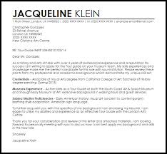 Tour Guide Cover Letter Sample Livecareer Job Example For