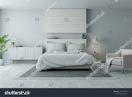 modern minimalist bedroom furniture. Modern Minimalist Bedroom Design Cozy White Gray Stock Illustration 1007740468 - Shutterstock Furniture