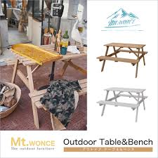 outdoor two colors of finished s wooden table garden picnic bench dining table tree fashion