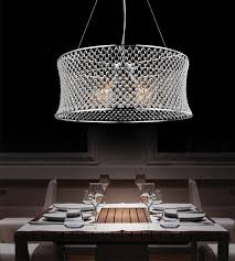 light chrome down chandelier
