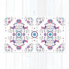 folk art rug red blue folk art rug crimson folk art family rug