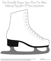Ice Skating Coloring Pages With Girl Ice Skater Coloring Page Free