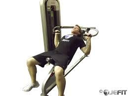 machine incline chest press