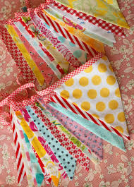 Designer Bunting Set Of Two Extra Long Carnival Themed Fabric Bunting Banners