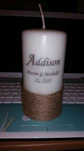 picture of personalized candle