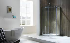 aquaglass frameless 8mm 1 door quadrant and offset quadrant enclosure