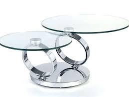swivel end table swivel coffee table glass