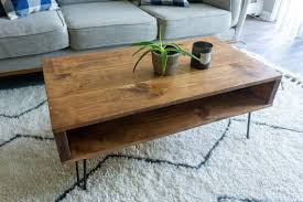 rustic wood coffee table with