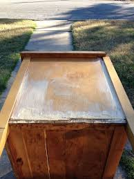 how to cover furniture. How To Remove Old Veneer Before And After Metallic Painted Dresser, To, Cover Furniture