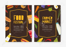 Flyer Poster Templates Bundle Of Flyer Or Poster Templates For Food Festival Or Farmer