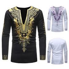 African Print Men S Shirt Designs African Print Long Sleeve Shirt Desain Bordir In 2019