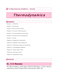 solution manual to basic and engineering thermodynamics by P K NAG 4t…