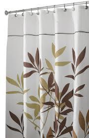Amazoncom InterDesign 35640 Leaves Fabric Shower Curtain