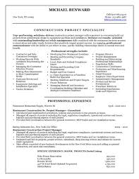 Construction Project Manager Resume Examples Photo Example Images