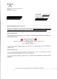 Sample Bank Of America Foreclosure Letter Cover Letter Is This False