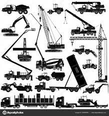 重建設機械アイコン白のシルエット ストックベクター Axelwolf