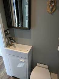 tiny house sink. Bathroom: Tiny House Bathroom Lovely Macerating Toilet Pact Sink With Cabinet -