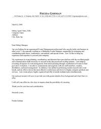 event manager cover letter example learnist within event manager cover