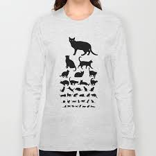 Cat Eye Chart Monochrome Long Sleeve T Shirt By Lacydermy
