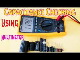 check capacitor value using multimeter