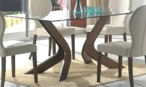 glass top dining table with wooden legs wood base interior design round metal