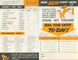 The Chum Tribute Site 1957 Charts