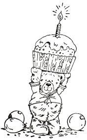 Digi Stamps Colouring Desserts Bears Postres