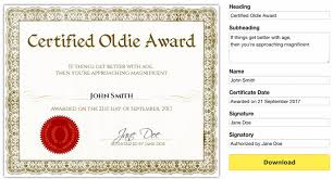 Free Downloadable Certificates Free Printable Gag Certificates