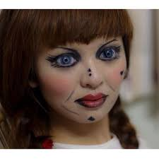 re create my previous annabelle makeup this time i m wearing a custom annabelle theatrical contact lenses what do you think pare to the last one