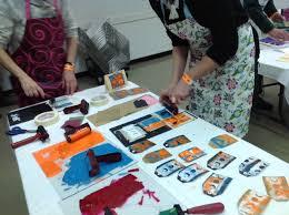 Artist Mothers Group: Block Printmaking – Mentoring Artists for Women's Art