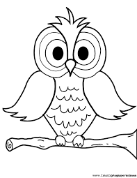 owl pictures to colour in. Interesting Owl Cartoon Owl Coloring Page For Pictures To Colour In L