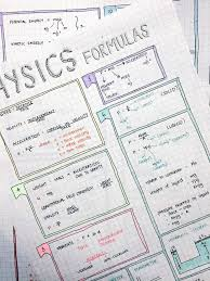 studyign acadcmically stud for my physics retest on by making a formula sheet