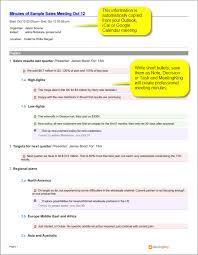 Meeting Minutes Template Free Sample Sales Meeting Minutes Template Meetingking