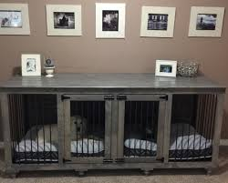 dog crates furniture style. rustic indoor dog kennel furniture grey crates style bu0026b kustom kennels