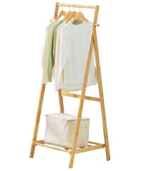 copree bamboo garment coat clothes hanging heavy duty rack foldable space saving
