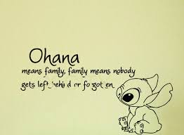 Ohana Means Family Quote Unique Lilo And Stitch Quote Ohana Means Family Means Cartoon Vinyl Wall