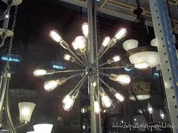 interesting starburst chandelier for your home lighting idea 18 light brushed nickel starburst chandelier for