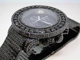 iced out 52 ct mens new breitling super avenger black diamond iced out 38 ct mens new breitling super avenger canary diamond watch joe rodeo