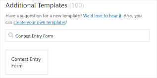 entry form templates how to create a contest entry form in wordpress step by step