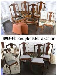 how to easy chair reupholstery tutorial dining chair makeoverfurniture makeoverrefurbished furniturediy furnituredining room