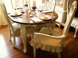 image of cream dining room chair covers