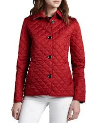 Burberry Brit Copford Quilted Button Jacket, Red | Neiman Marcus & Copford Quilted Button Jacket, Red Adamdwight.com
