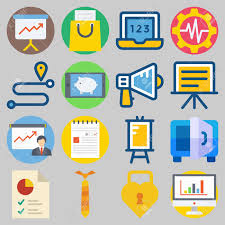 Icon Set About Digital Marketing With Keywords Route Location