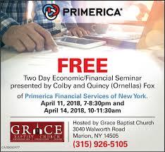 Primerica Financial Messenger Post Media Business Directory Coupons Restaurants