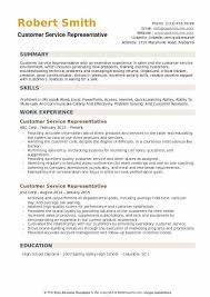 Customer Service Representative Resume Sample Extraordinary Customer Service Representative Resume Samples QwikResume