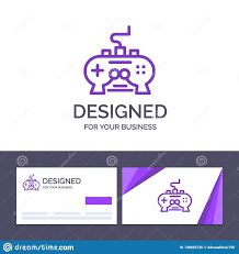 Business Pad Design Vector Creative Business Card And Logo Template Game Pad Video