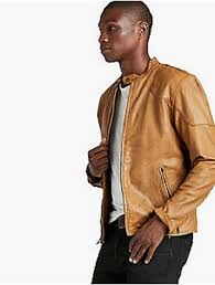 new lucky brand thruxton leather jacket men s sz xl for item 1808615