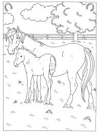 Kleurplaten Paard