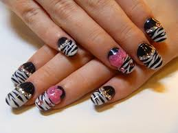 Cute animal print acrylic nail designs | Nail Art and Tattoo ...